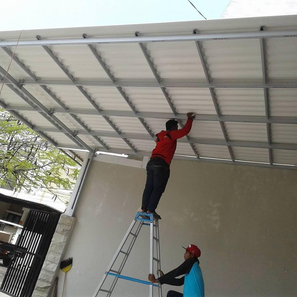 Jasa  Pengerjaan  Canopy  Baja Ringan  Amurang